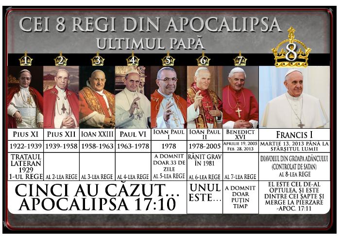 Cei 8 Regi din Apocalipsa 17;Francisc I=al 8-lea Rege, ultimul papă
