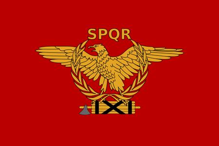 Steag păgân român-SPQR