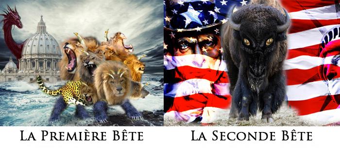 Apocalypse 13: Première Bête (Rome) et Seconde Bête (Etats-Unis)