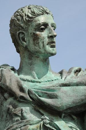 కాన్స్టాంటైన్ విగ్రహపు ముఖము