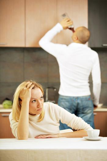 HäuslicheProbleme wegen Alkoholmissbrauchs