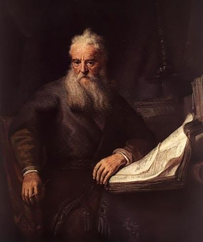 """रेम्ब्रैंट का """"प्रेरित पौलुस"""" का चित्र"""
