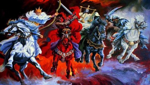 4 Perderuiters van Openbaring 6