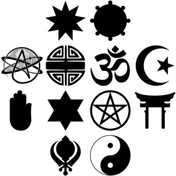 Symbole falscher Reliogionen