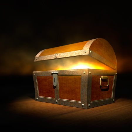 treasure chest full of light