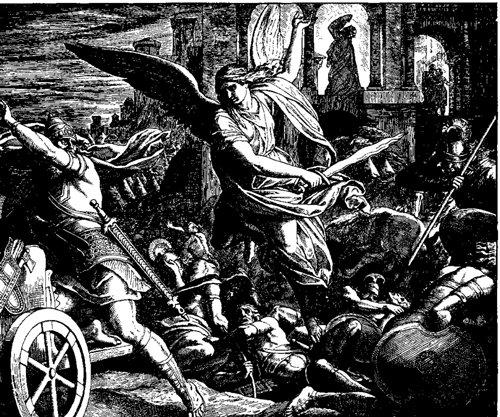 Dřevoryt v Die Bibel in Bildern, 1860