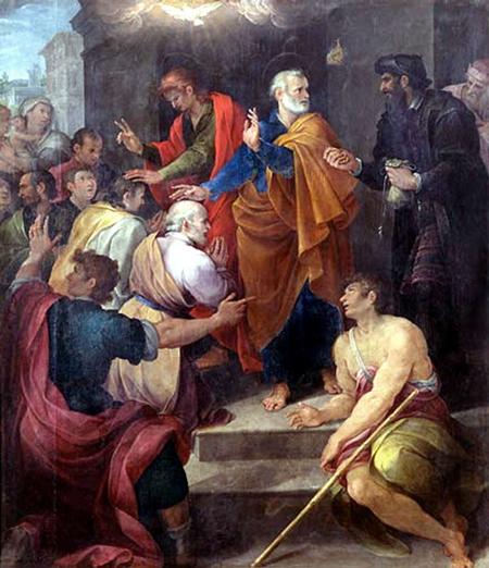 Avanzino Nucci: Petrus' Auseinandersetzung mit Simon Magus - 1620
