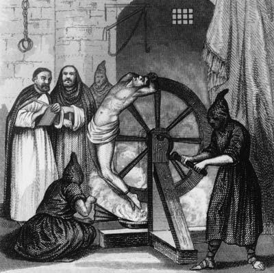 عجلة التعذيب في محاكم التفتيش البابوية