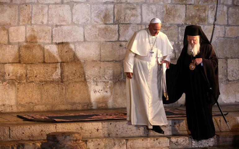 Pope Francis anPaus Francis dan Patriark Bartholomewd Patriarch Bartholomew