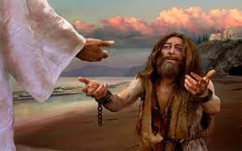 demon possessed man from Gadara healed