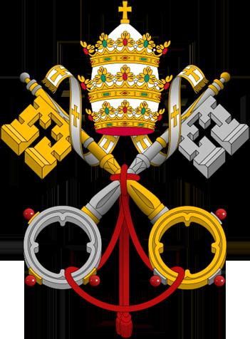 """Das  päpstliche Schlüsselemblem des Vatikan (""""Schlüssel des Petrus"""")"""