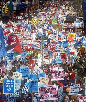 eine Demonstration über den 11. September