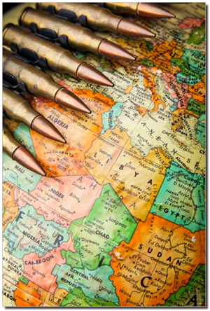 Geschosse & Karte des Mittleren Ostens