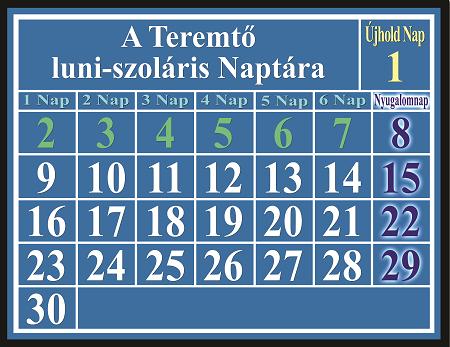 A teremtő luni-szoláris naptára