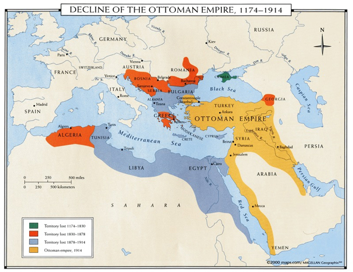 decline of the Ottoman Empire, 1174-1914