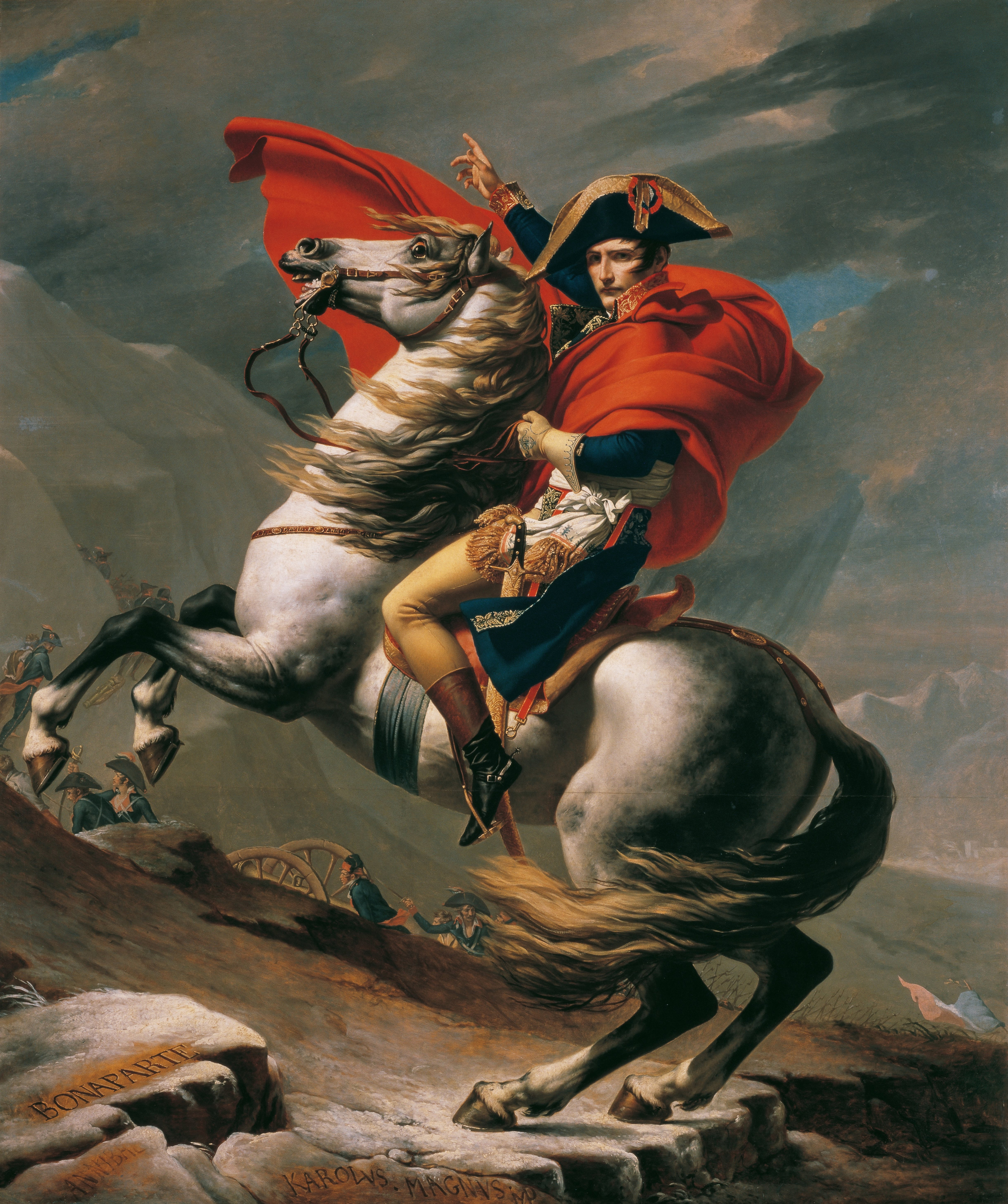 Napoleon di Great St. Bernard - Jacques-Louis David