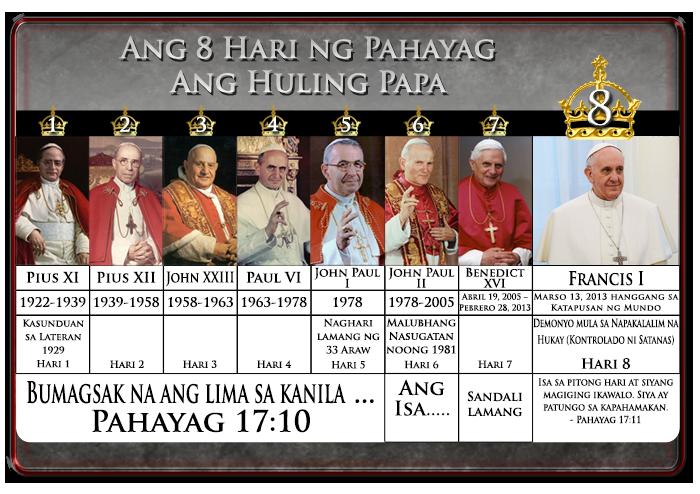 8 Hari ng Pahayag 17; Francis I = Ika-8 Hari, ang huling papa