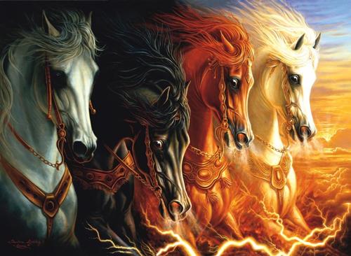 الخيول الأربعة من سفر الرؤيا (رؤيا 6(