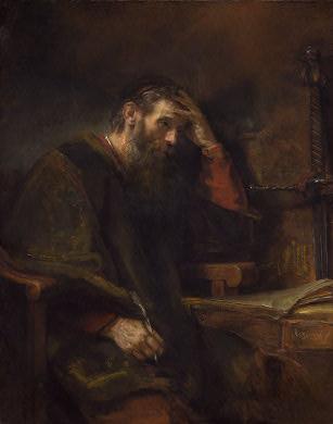 Rembrandts Gemälde des Apostels Paulus