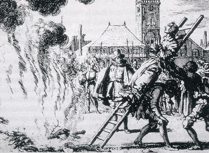 20. května 1527 byl Michael Sattler připoután k žebříku, poté, co byl mučen, a svalen do ohně, stvrzujíc své svědectví svou krví. Anabaptistou byl méně než dva roky.