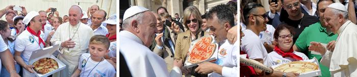 papež a pizza