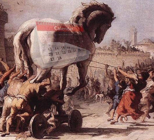 Postup Trojského koně do Tróji