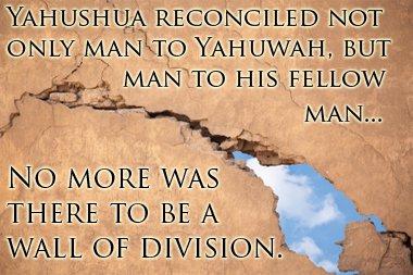 pader ng paghihiwalay na sinira ni Yahushua