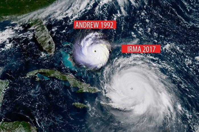 andrew 1992 vs. irma 2017