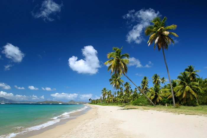The island of Nevis in the Caribbean