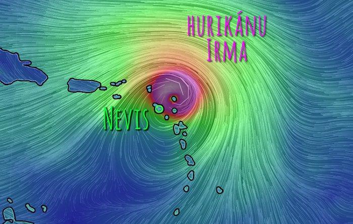 hurikán Irma a Nevis