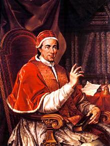 Poopo Clement XIV wakamwayaula mbungano ya baJesuiti