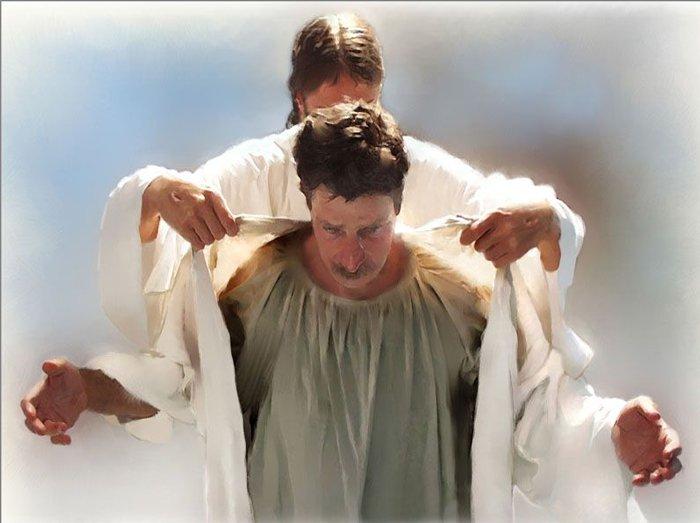 ఆయన నీతితో ధరించబడెను