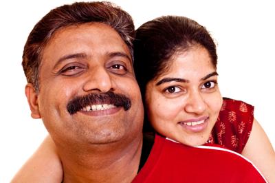 快乐的印度夫妇