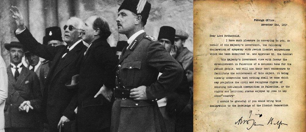 Balfour visits Jerusalem