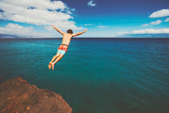 skok do oceánu