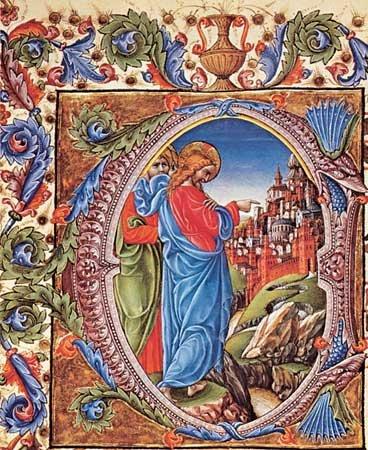 "Liberale da Verona: ""Jesus Before the Gates of Jerusalem"""