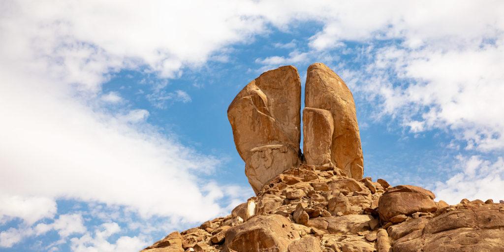 rocha dividida de Horebe
