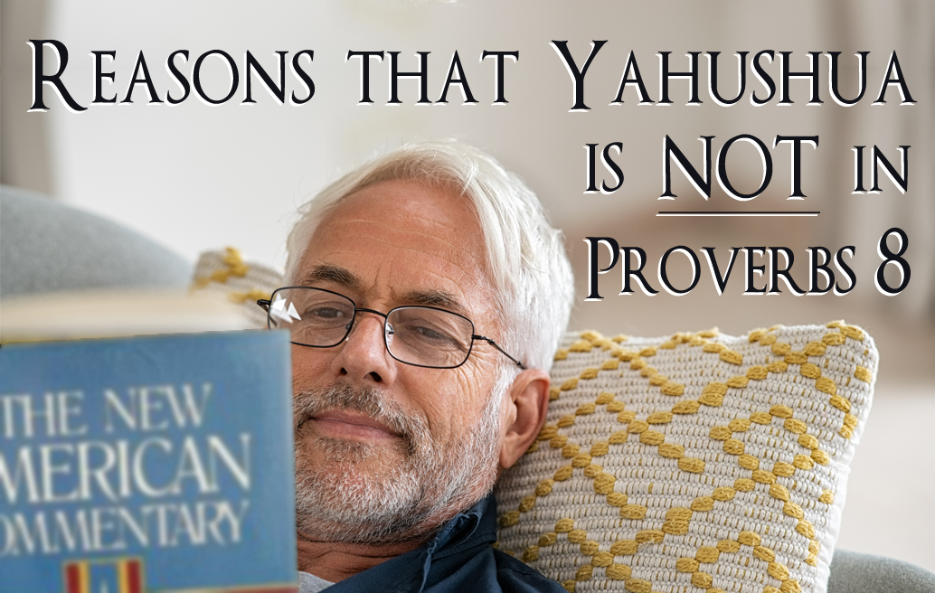 Reasons That Yahushua Is Not in View in Proverbs 8