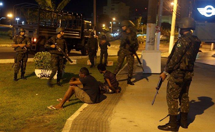 موقوفون في أعمال عنف بالبرازيل
