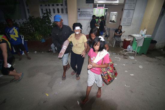 إحدى المصابات عقب الخروج من المستشفى