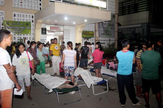 عدد من الاصابات فى احدى المستشفيات