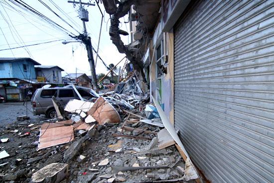 تحطم وجهات المنازل فى الفلبين
