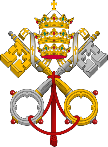 """شعار مفاتيح بابوية الفاتيكان """"مفاتيح بطرس"""""""