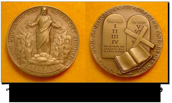 وسام أعطي للبابا بولس السادس من قبل الكنيسة السبتية، المسؤول ب.ب. بيتش