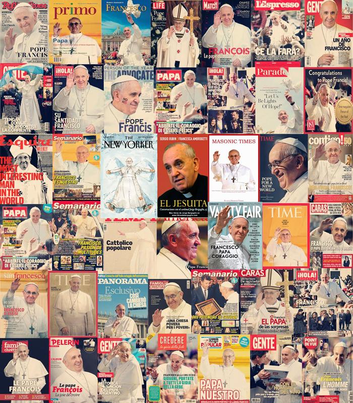 البابا فرنسيس على أغلفة المجلات