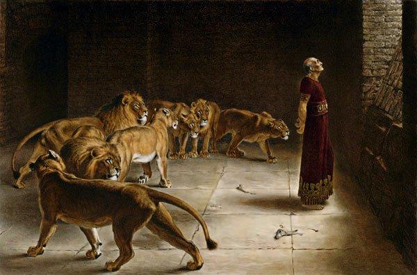 Daniel in the Lion's Den, Briton Rivière (1890)