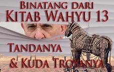 Binatang dari kitab Wahyu pasal 13, Tandanya & Kuda Troyanya
