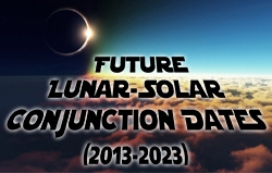 Future Lunar-Solar Conjunction Dates (2013-2023)