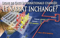 Ligne de Date Internationale changée: Le Sabbat inchangé?