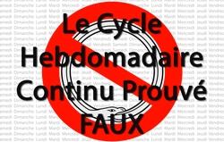Le Cycle Hebdomadaire Continu Prouvé Faux